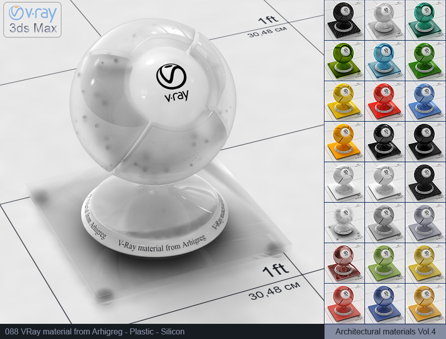 Vray plastic material free download - Silicon (088)