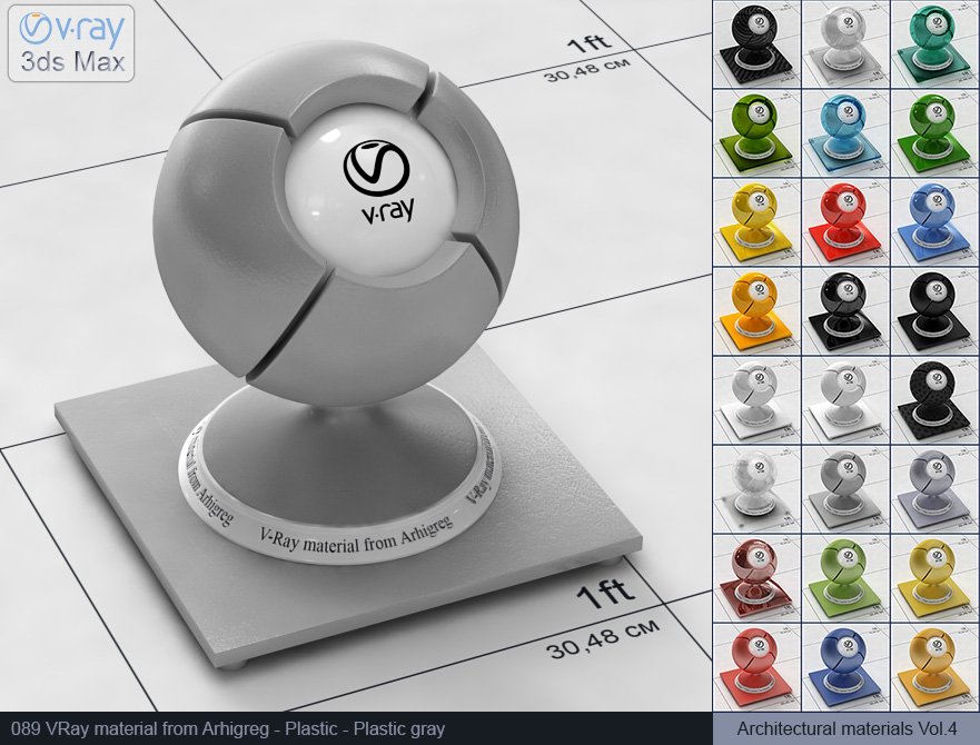 Vray plastic material free download - Gray plastic (089)