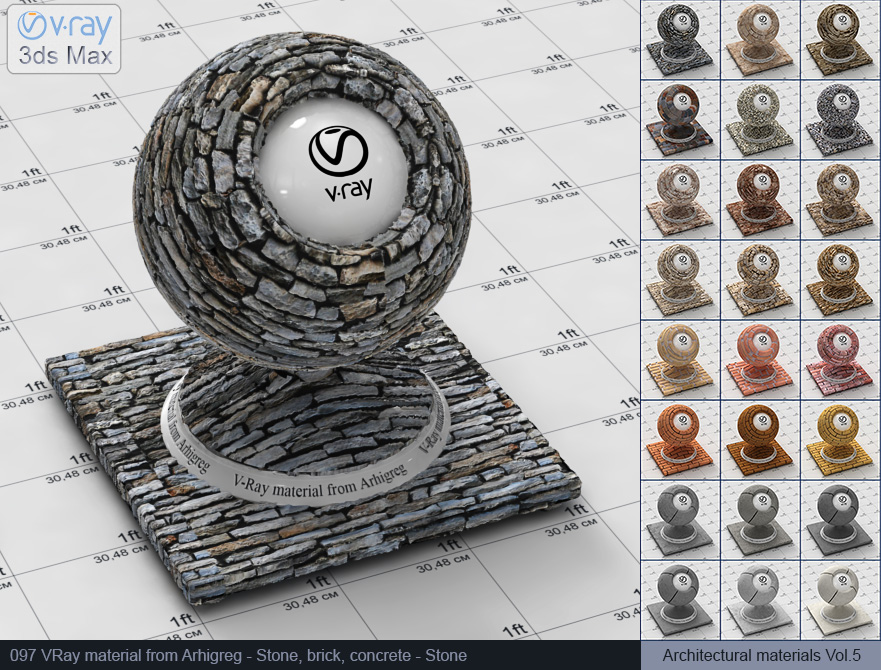 Vray stone material free download (097)