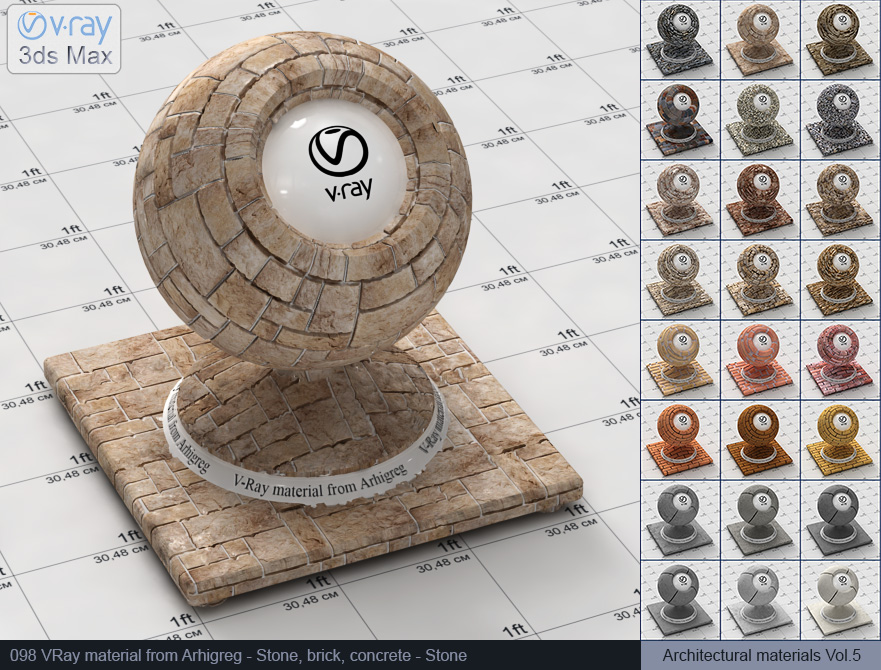 Vray stone material free download (098)