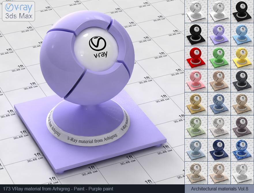 Vray material free download - Purple paint (173)