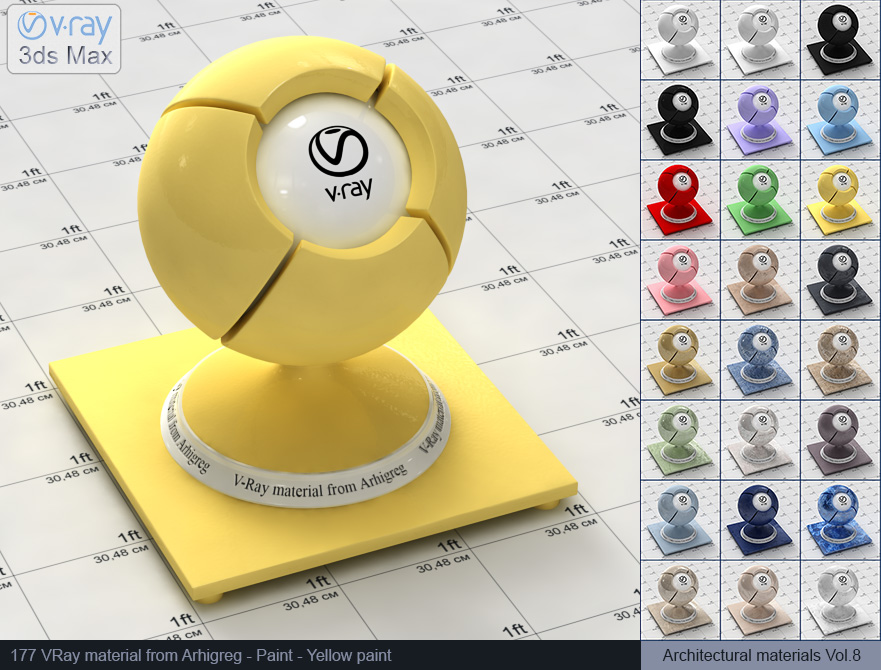 Vray material free download - Yellow paint (177)