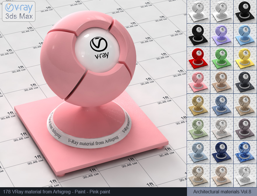 Vray material free download - Pink paint (178)