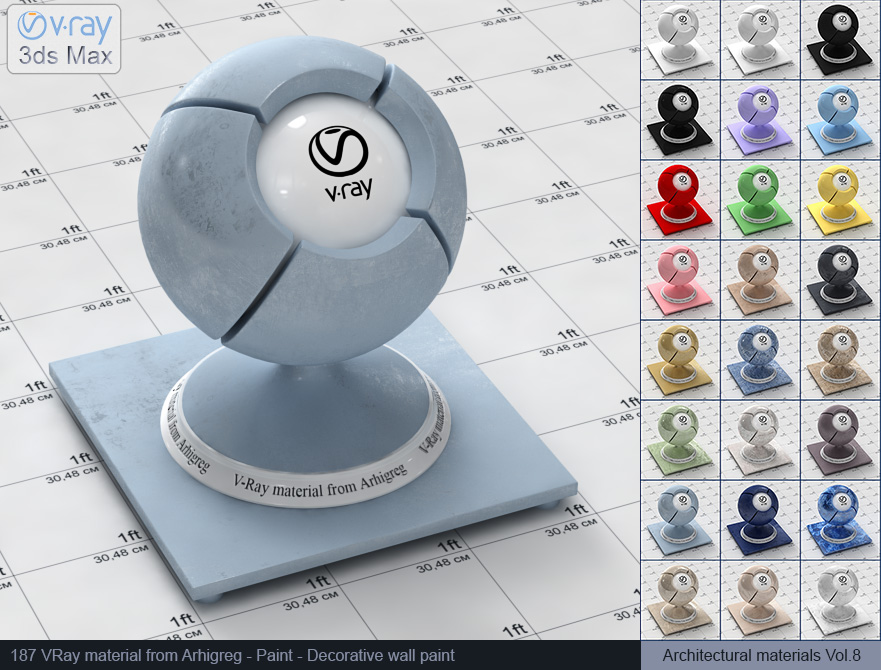 Vray material free download - Decorative wall paint (187)