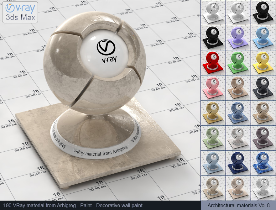 Vray material free download - Decorative wall paint (190)